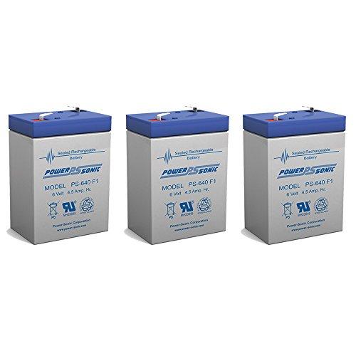 6 Volt Battery 6V 45AH Replacement for MK ES4-6 - 3 Pack