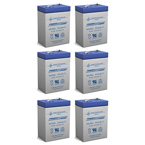 6 Volt Battery 6V 45AH Replacement for MK ES4-6 - 6 Pack