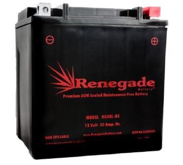 Utiltiy Vehicle Battery RG30L-BS Polaris 700cc 2011-2001 Ranger 4x46x6 700 EFI Crew 700 XP 700 4x46x6 500 EFI 2x4 425 4x4 400 66010-97A 66010-97B 66010-97C BTX30L B30L-B CB30L-B
