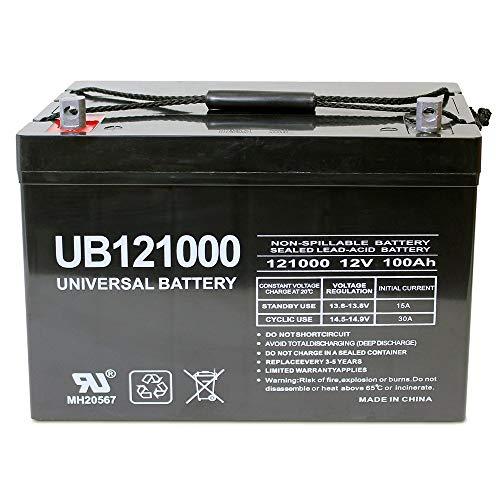 12V 100Ah AGM Sealed Lead Acid Battery UB121000 Group 27