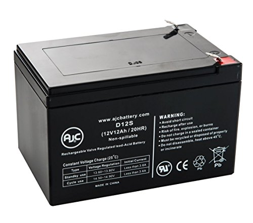Cruzin Cooler 300 Watt 12V 12Ah Scooter Battery - This is an AJC Brand Replacement
