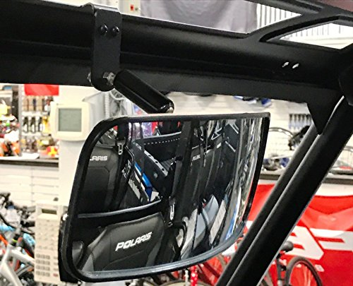 DELUXE BOLT ON Rear View Mirror 12W x 4 12T for 2015 Polaris Ranger 570