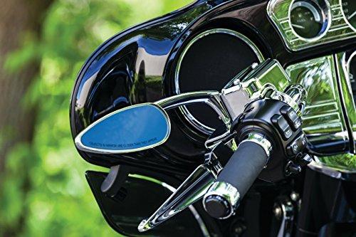 Kuryakyn Small Teardrop Mirrors Chrome for Harley Pair  1707