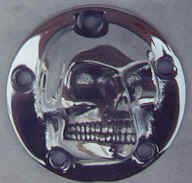 Harley Harley 3D High Polished Skull ignition system cover 5-Hole