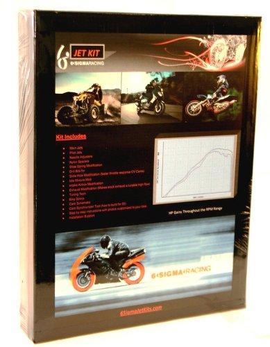 Yamaha YFM 686 cc Bore Grizzly 6 Sigma Custom Carburetor Carb Stage 1-7 Jet Kit