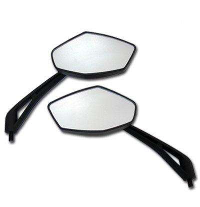 Black Diamond Motorcycle Mirrors for Honda Interceptor