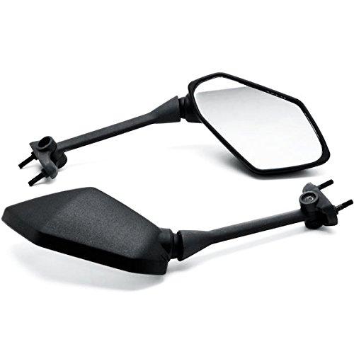 Krator Black Motorcycle Mirrors For Kawasaki Ninja 650R 09-14  400R 10-14 Z1000 11-14