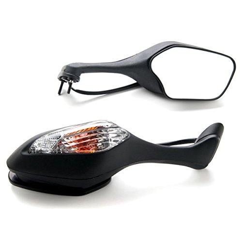 Krator Black Motorcycle Mirrors Turn Signals Left Right For 2008-2012 Honda CBR 1000RR  CBR1000RR