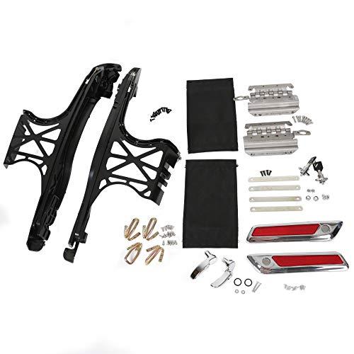 Harley Saddlebag Saddle Bag Hardware Kit Latch Covers Locks Reflectors Lever Lids For FLT FLH 2014 2015 2016 2017 2018 Harley-Davidson