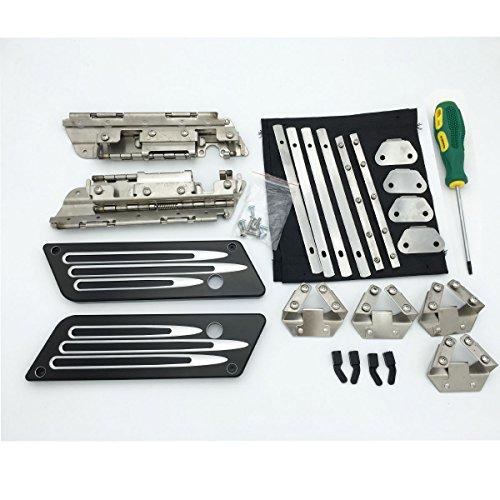 Billet Aluminum Latches Cover Hard Saddlebag Hinges Latch Hardware Kit Lock Set For Harley Touring 1993-2013