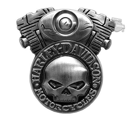 Harley-Davidson 3D Cast Skull Engine Pin