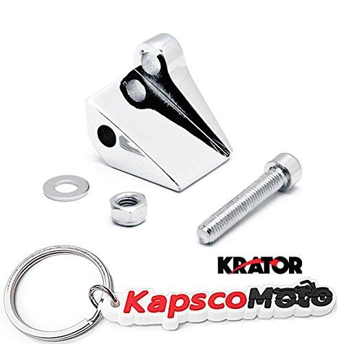 Krator Chrome Right Mirror Relocation Adapter for 1996-2014 Harley Davidson Motorcycles  KapscoMoto Keychain