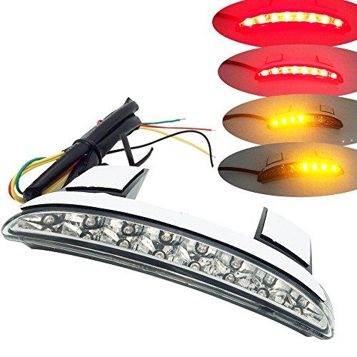Clear White Chopped Fender Edge Brake LED Tail Light Turn Signal for Harley XL883 1200