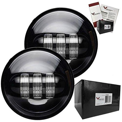 Eagle Lights 8700P 45 LED Passing Lamp Kit for Harley Davidson and Others Black