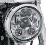 "Scoot Lights SL-557E Daymaker Chrome Headlight 5-34"" for Harley Davidson Motorcycles"