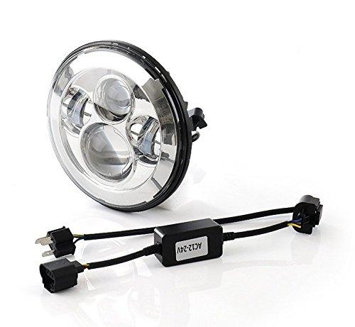 Scoot Lights SL-J048A Chrome 7 LED Headlight for Harley Davidson Motorcycles