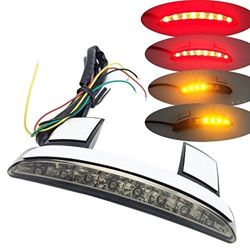 Smoke Chopped Fender Edge Brake LED Tail Light Turn Signal for Harley XL883 1200