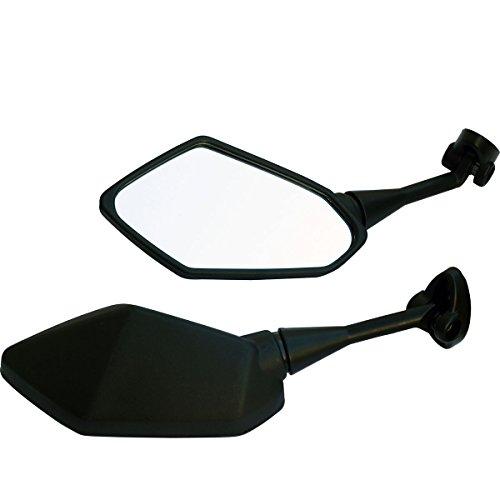 Black Motorcycle Rear View Mirrors For Sport Bike 2012 Kawasaki Ninja 650