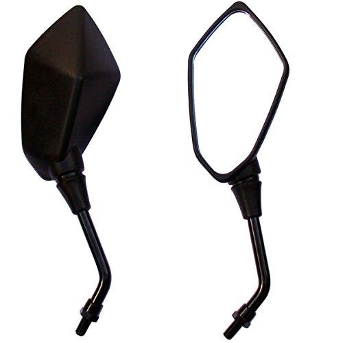 Black Motorcycle Rear view Mirrors For 2011 Yamaha Raider XV1900CA