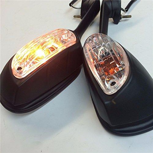 New OEM Aftermarket Mirrors For Suzuki GSXR600 750 2009 2010 2011 2012 GSXR1000 Black with Yellow LED light Turn Signals