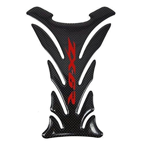 5 Layer Real Carbon Fiber 3D Red Sticker Vinyl Decal Emblem Protection Gas Tank Pad For Kawasaki Ninja-Zx6R All