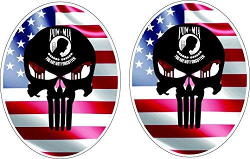 2pcs POW MIA USA Badge Label - Window Graphics Car Sticker USA decal sticker decal