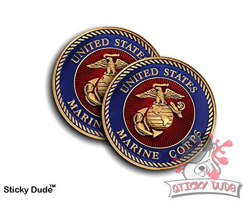 2pcs USMC Marines Badge Label - Window Graphics 2nd Amendment Car Sticker USA decal sticker decal