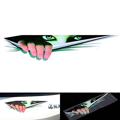 Sedeta Funny Car Sticker 3D Eyes Peeking Monster Voyeur Car Hoods Trunk Thriller Rear Window Decal