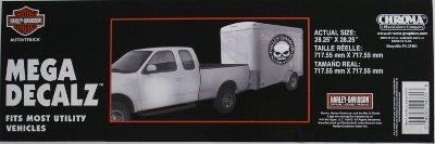Harley-Davidson Willie G Trailer Decal harley davidson motorcycle bike willie g skull trailer decal sticker big willy