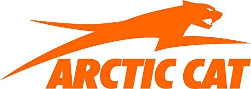 Jumping Arctic Cat Decal Sticker Orange