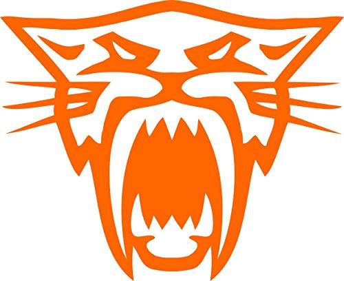 Pair of Arctic Cat Head Decal Sticker Orange