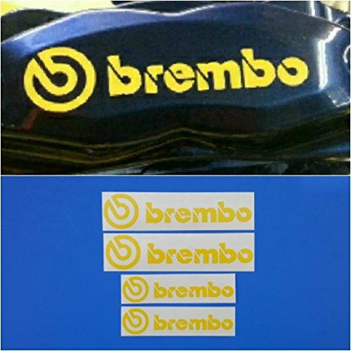R&G Brembo 6 Piston 4 piston High Temp Brake Caliper Decal Sticker Set of 4 Yellow