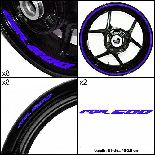 Stickman Vinyls Honda CBR 600 Motorcycle Decal Sticker Package Reflective Blue Graphic Kit