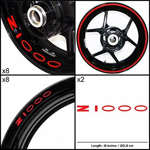 Stickman Vinyls Kawasaki Z1000 Original Motorcycle Decal Sticker Package Gloss Red Graphic Kit