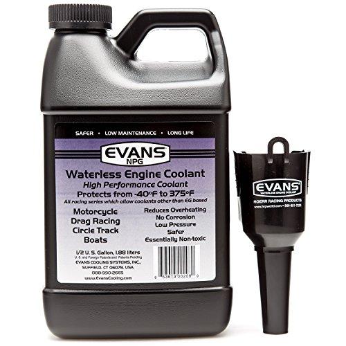 EVANS Coolant EC10064 Waterless Engine Coolant 64 fl oz with Funnel