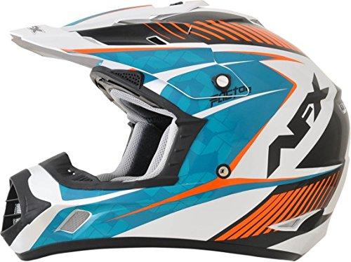 AFX FX-17Y Factor Complex Youth Motocross Helmets - BlueOrange - Youth Medium