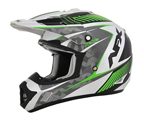 AFX FX-17 Factor Mens Motocross Helmets - WhiteGreen - Small