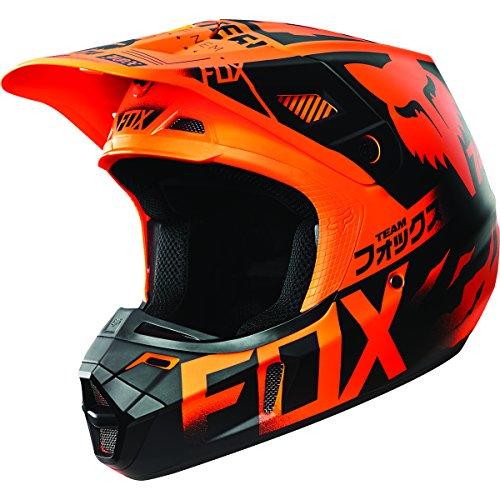 Fox Racing V2 Union Mens Motocross Helmets - Orange - Large