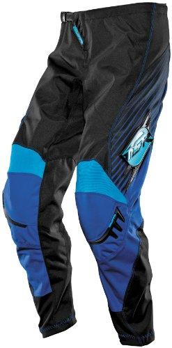 MSR Racing Axxis Mens Motocross Motorcycle Pants - BlackBlueCyan  Size 28