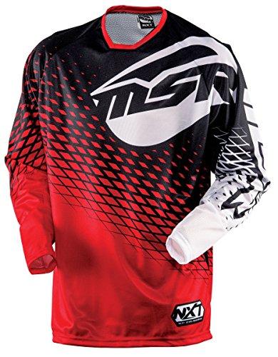 MSR Racing M15 NXT Mens MotoX Motorcycle Jersey - RedBlack  Large