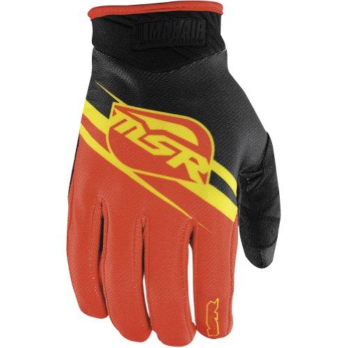 MSR Racing MAXAIR Mens Dirt Bike Motorcycle Gloves - YellowRed  Medium