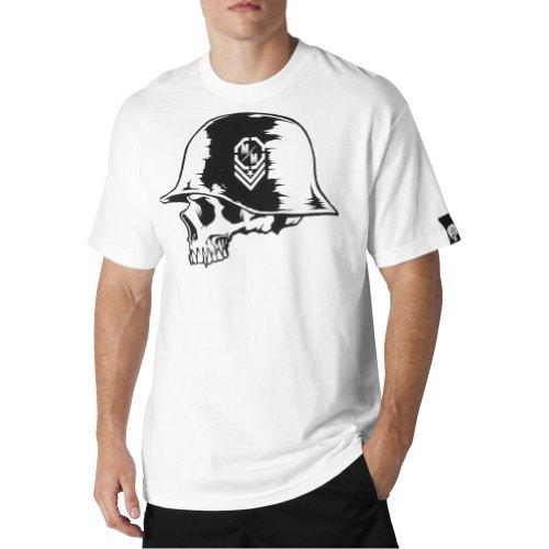 MSR Racing Metal Mulisha Tyrant Mens Short-Sleeve Fashion Shirt - White  Large