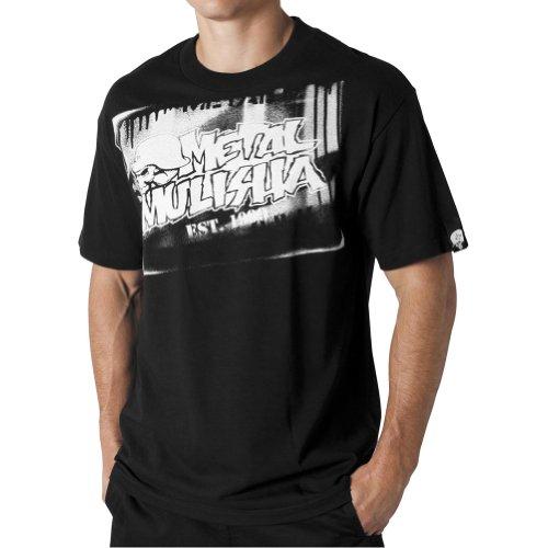MSR Racing Metal Mulisha Vaporizer Mens Short-Sleeve Sportswear Shirt - Black  Large
