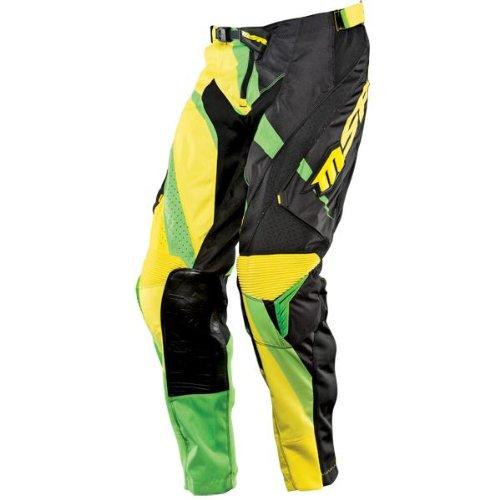MSR Racing NXT Edge Mens Off-Road Motorcycle Pants - GreenBlackYellow  Size 28