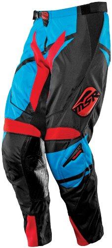 MSR Racing Renegade Mens Dirt Bike Motorcycle Pants - BlackCyanRed  Size 28