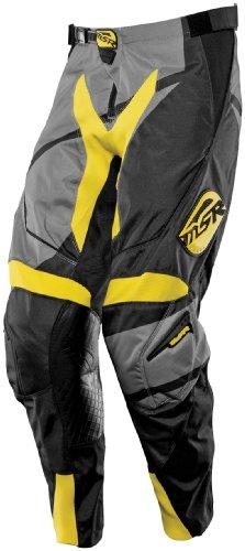 MSR Racing Renegade Mens Dirt Bike Motorcycle Pants - BlackGreyYellow  Size 28