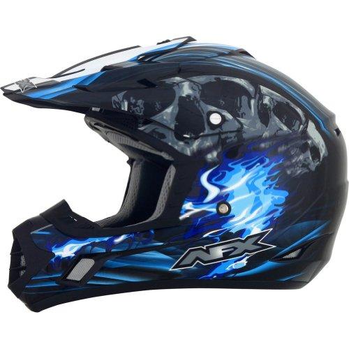 AFX Inferno Water Decals Changes Adult FX-17 Dirt Bike Motorcycle Helmet - BlackBlue  3X-Large