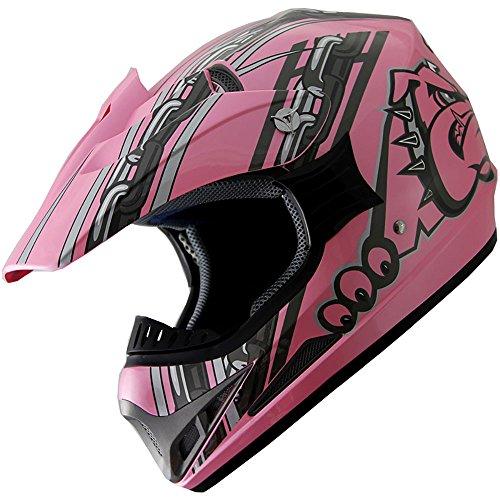 ATV Motocross Dirt Bike Motorcycle Helmet A28 Pink L