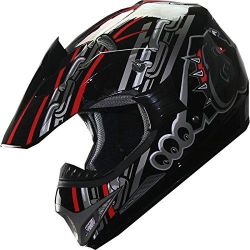ATV Motocross Dirt Bike Motorcycle Helmet A28 RedBlack L