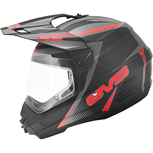 EVS T5 Venture Dual Sport Adult Dirt Bike Motorcycle Helmet - Matte BlackRed  Medium